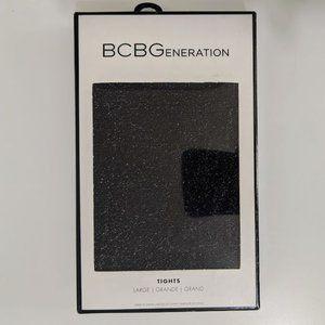 BCBGENERATION Black Shimmer Sparkle Tights